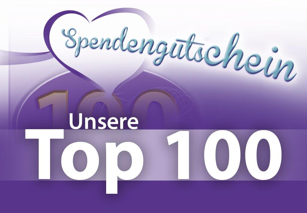 Aktion Spendengutschein - Unsere Top 100